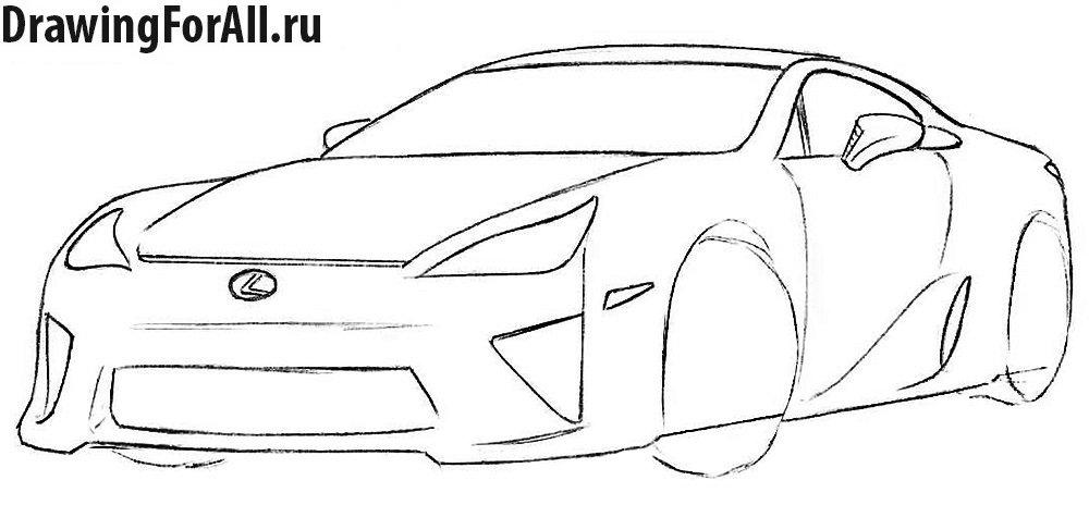 Как нарисовать автомобиль поэтапно