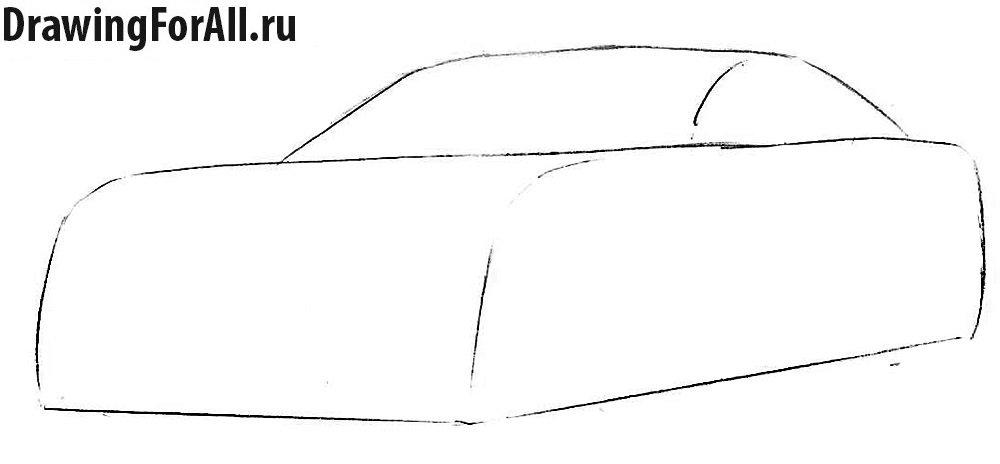 Как нарисовать машину Лексус