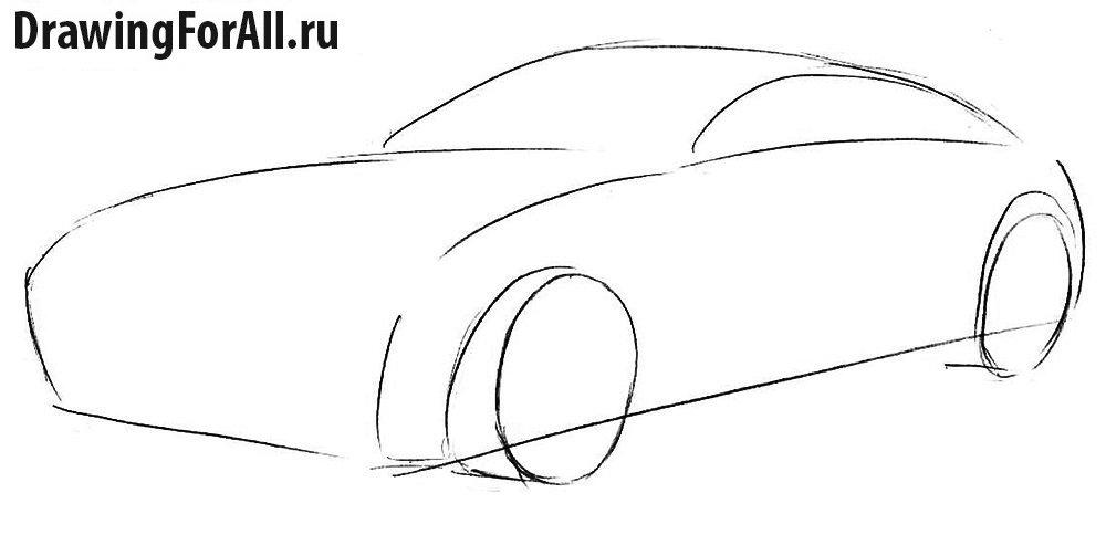 Урок рисования автомобиля Ягуар