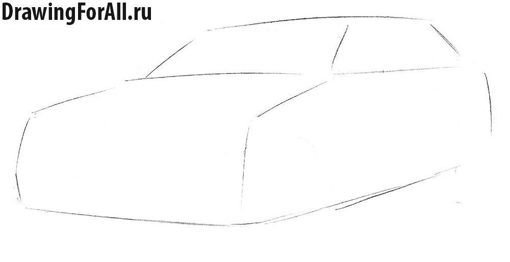 Как нарисовать Крайслер поэтапно
