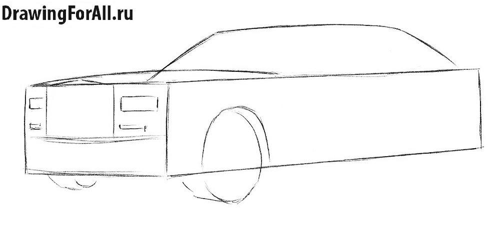 Как нарисовать автомобиль Роллс Ройс