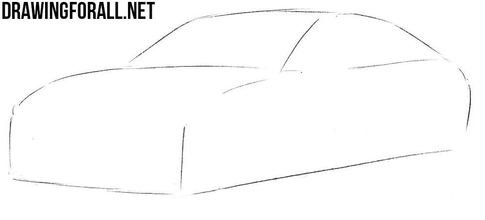 Как нарисовать машину Мазду