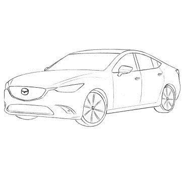 Как нарисовать автомобиль Мазда 6