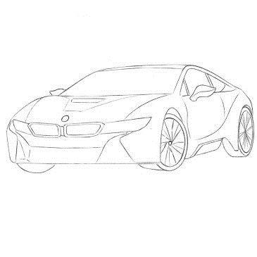 Как нарисовать автомобиль БМВ i8