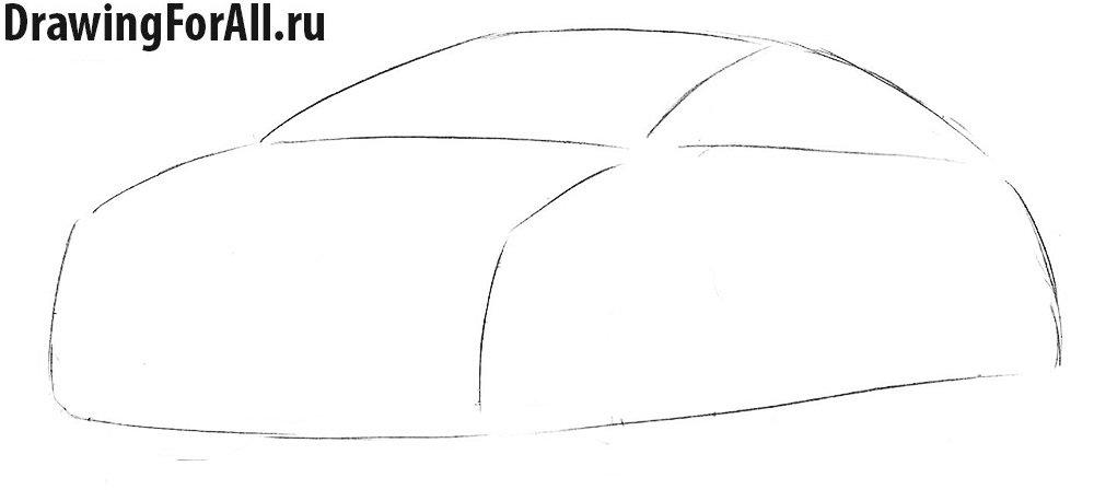 Как нарисовать автомобиль Опель