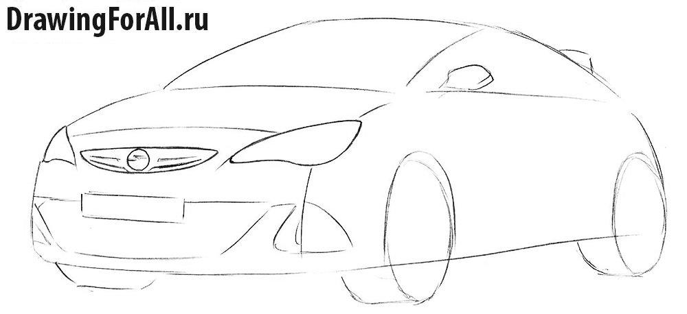 Как нарисовать автомобиль для начинающих
