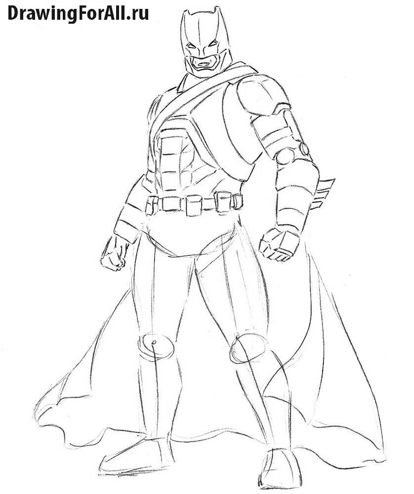 нарисованные картинки Бэтмена