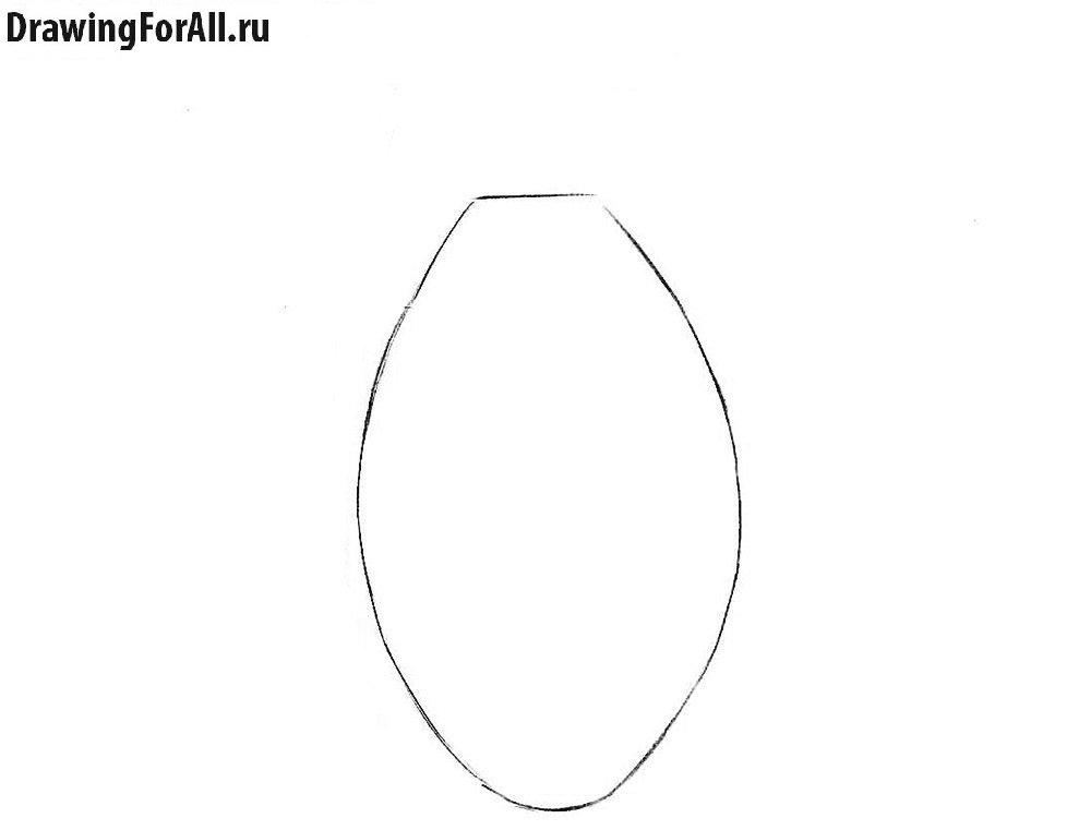 Как нарисовать гранату карандашом поэтапно