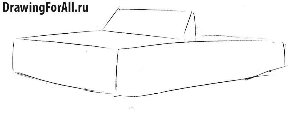 Как нарисовать машину Шевроле