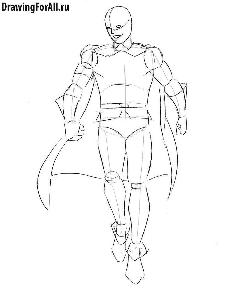 Как нарисовать Робина из комиксов