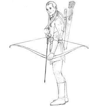 Как нарисовать Леголаса