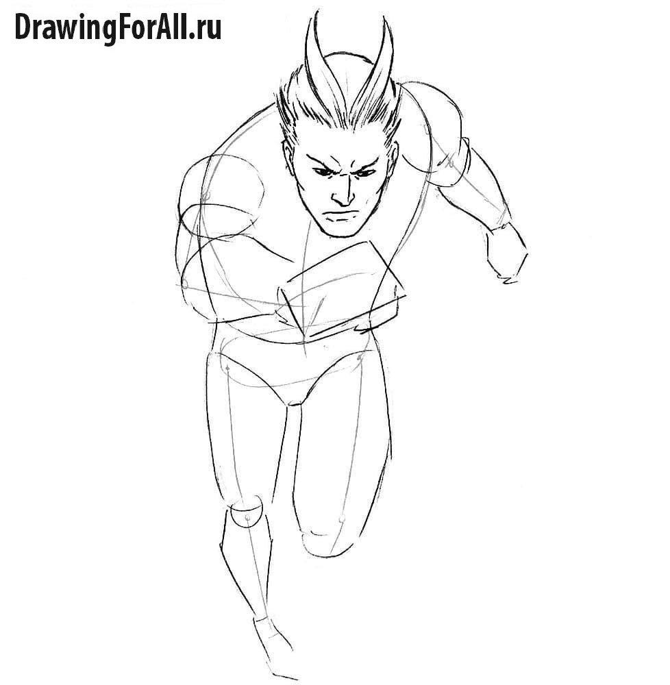 Как нарисовать Пьетро Ртуть