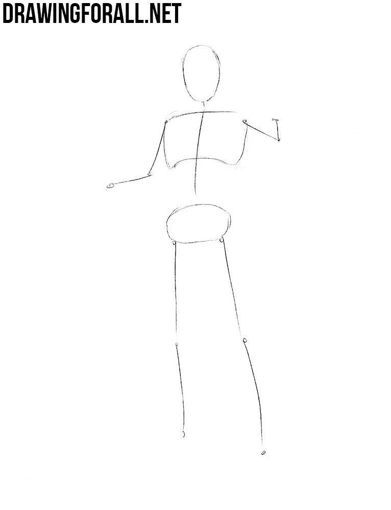 Как нарисовать доктора Стрэнджа - стикмен