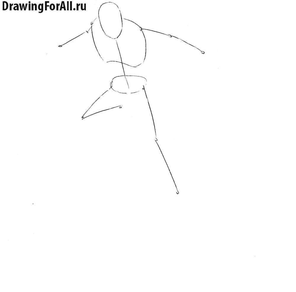 Рисование Серебряного Серфера стикмен