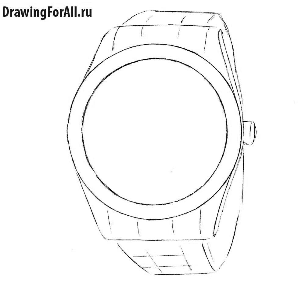 Как нарисовать дорогие часы
