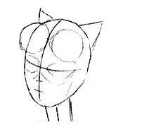 Как нарисовать лицо Женщины Кошки