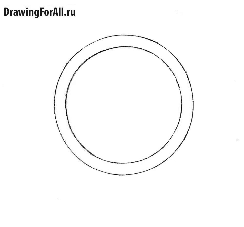 Как нарисовать наручные часы карандашом