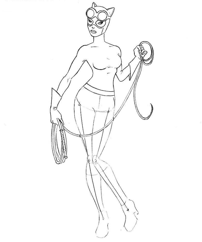 Как нарисовать Женщину-Кошку из комиксов