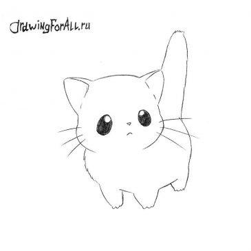 Как нарисовать Чиби Кота