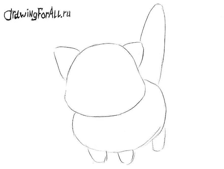 Как нарисовать Чиби кота поэтапно