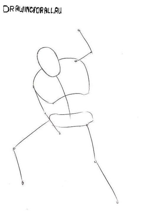 Как нарисовать Шокера поэтапно
