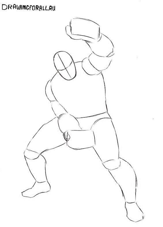 Как нарисовать Шокера из Человека-Паука
