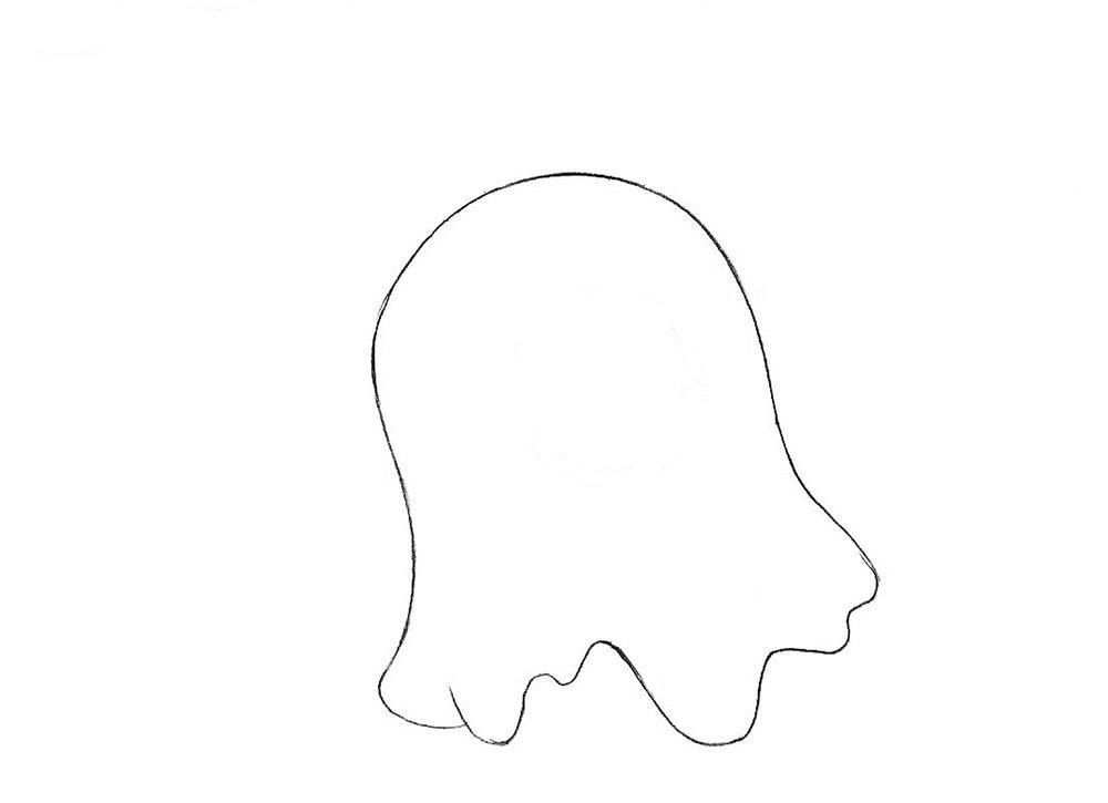 Как нарисовать мозгового слизня