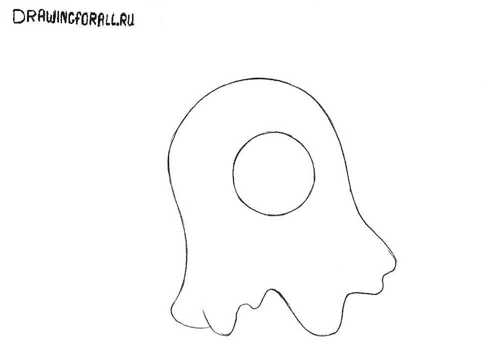 Как нарисовать мозгового слизня из Футурамы