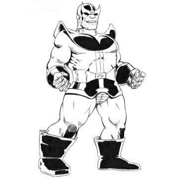 Как нарисовать Таноса