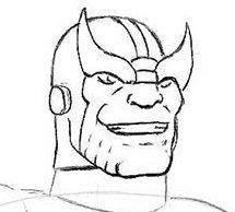 Как нарисовать лицо Таноса