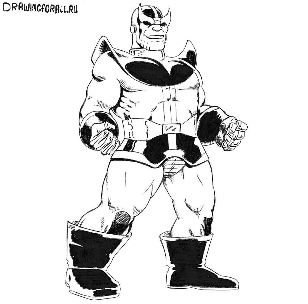 Урок рисования Таноса