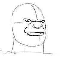 Как нарисовать лицо Таноса из Мстителей