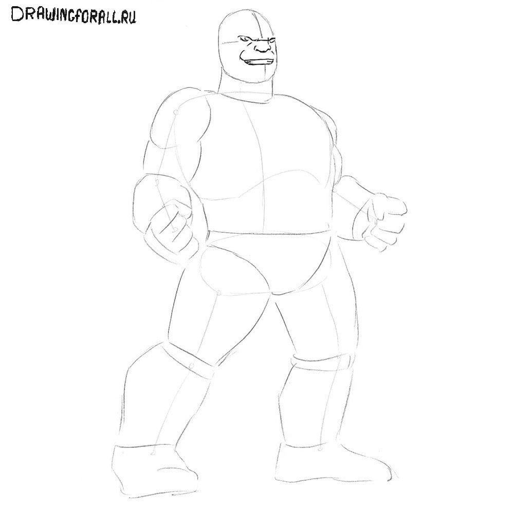 Как нарисовать Таноса из Мстителей