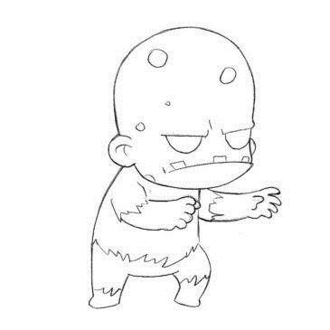 Как нарисовать Чиби-Зомби