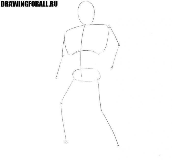 Как нарисовать космодесантника