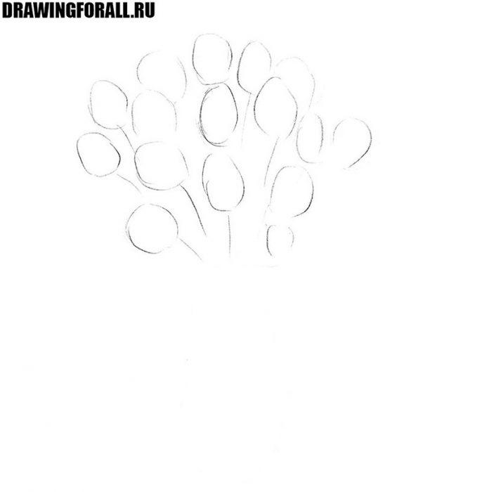 Как нарисовать цветы в вазе для начинающих