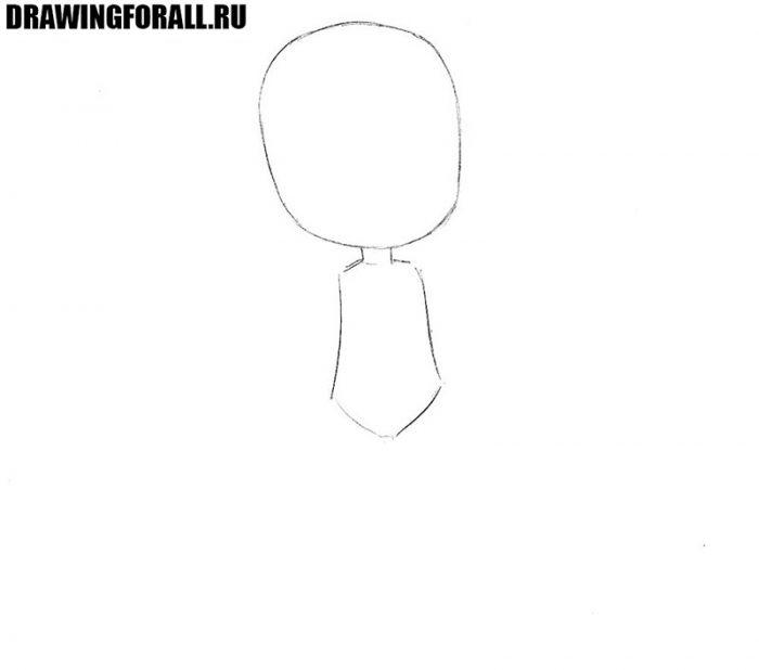 как нарисовать чиби девочку