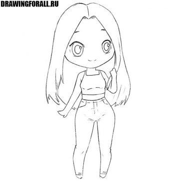 Как нарисовать чиби-девочку