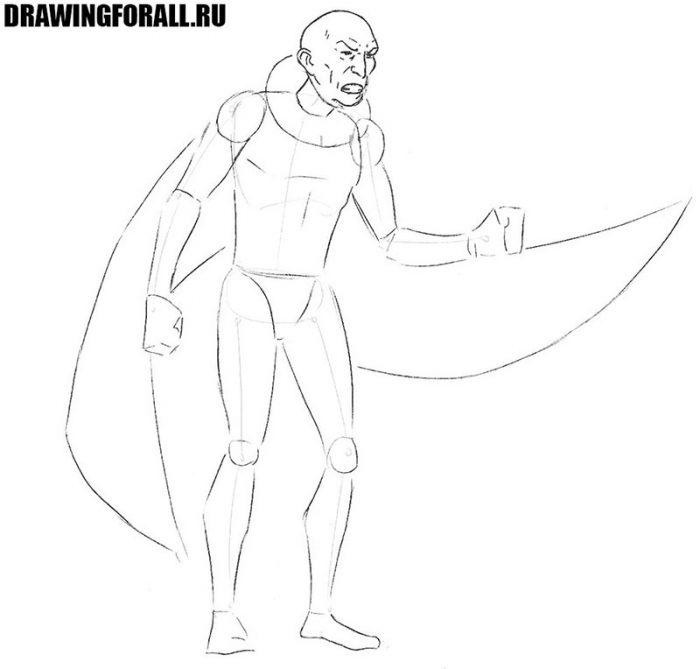как нарисовать стервятника из комикса