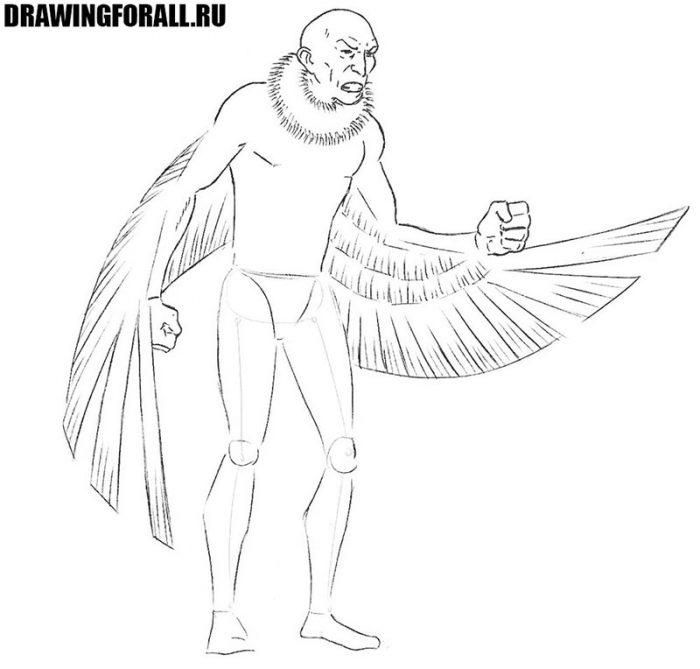 как нарисовать стервятников из комикса