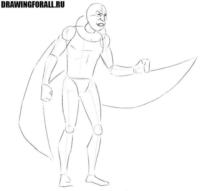 как нарисовать злодея из комиксой