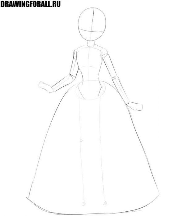 как нарисовать принцессу быстро