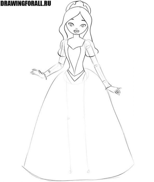 как нарисовать маленькую принцессу