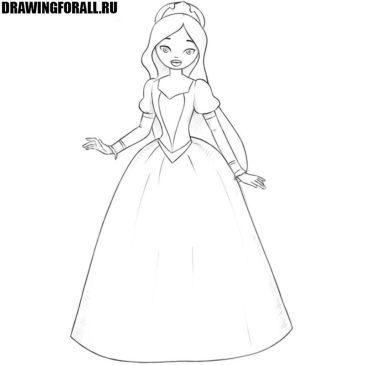Как нарисовать принцессу