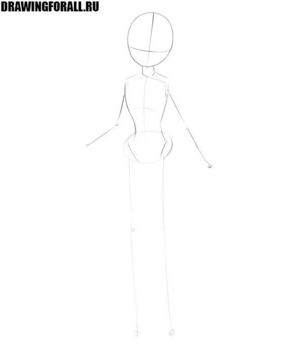 как нарисовать принцессу карандашом