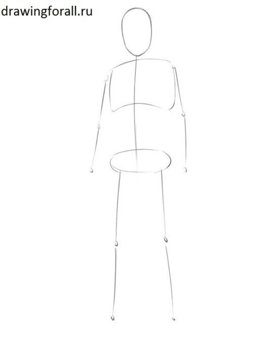 Как нарисовать принца поэтапно